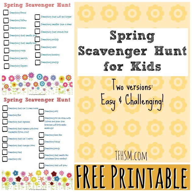 Why not give kids a fun, education and creative outlet too! Scavenger Hunts are always a huge hit with my kids and I love any excuse to keep them learning, especially while having fun. :: www.thriftyhomeschoolers.com
