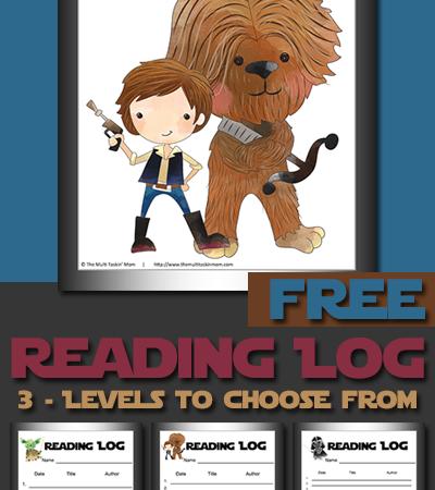 Freebie ~ Star Wars Themed Reading Logs