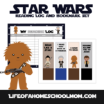 Free Star Wars Reading Log & Bookmark Set