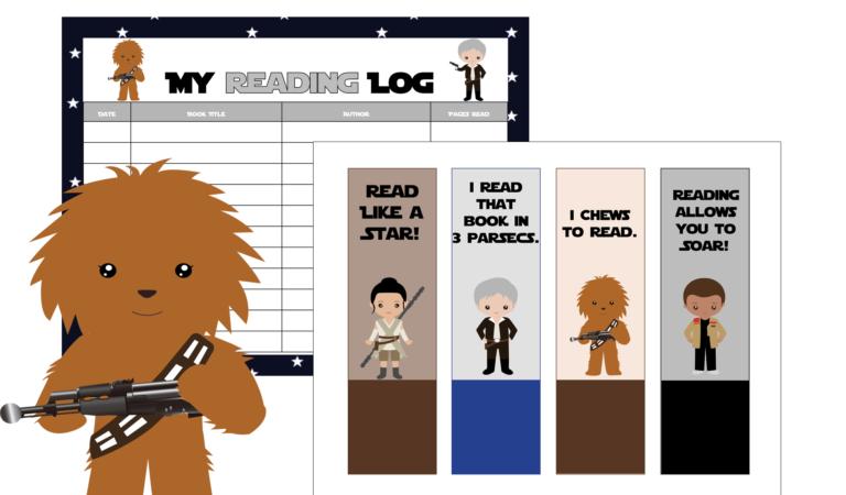 Free Star Wars Reading Log & Bookmark Set