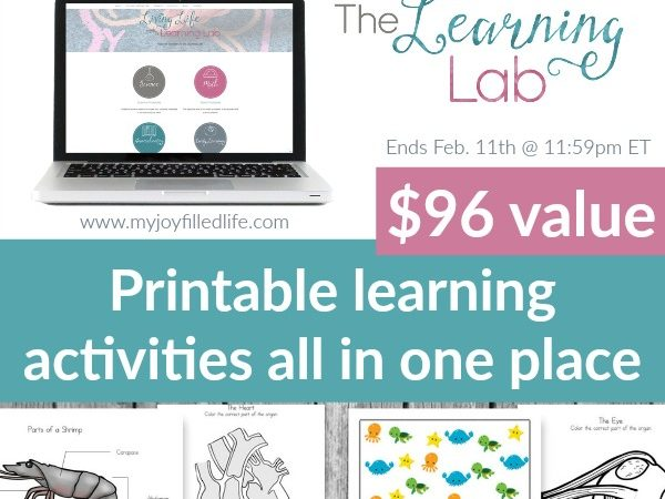 Limited Time ~ Giveaway for 1-Year Membership to The Learning Lab