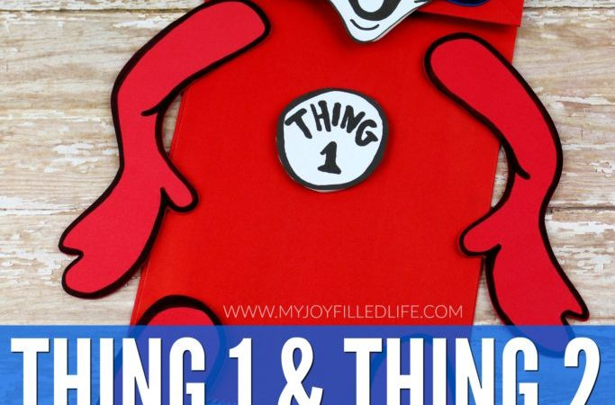 Free Puppet Printables – Thing 1 & Thing 2