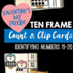 Free Valentine's Day Ten Frame Clip Cards