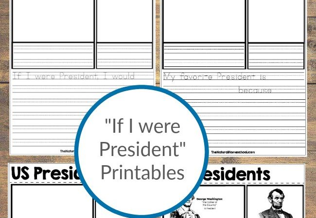 """If I were President"" Printables"