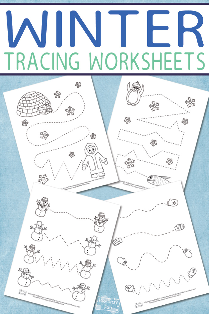 Do your little ones love tracing practice pages? These adorable Winter themed ones are perfect to add to any winter morning or on a cold winter day! :: www.thriftyhomeschoolers.com
