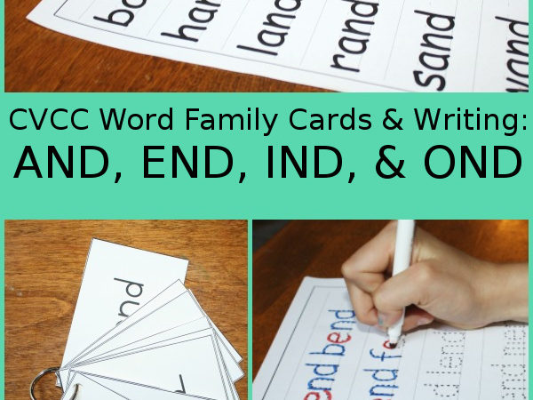 CVCC Word Family Cards & Writing Pages