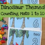 Free Dinosaur Themed Counting Mats