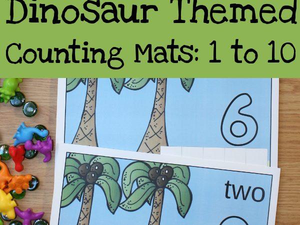 Free Dinosaur Themed Counting Mats