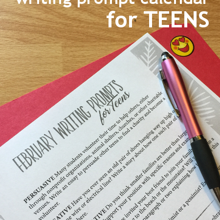 Free February Writing Prompts for Teens