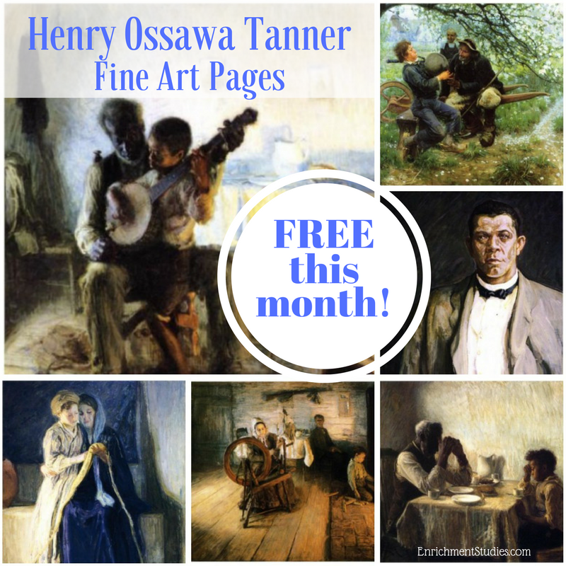 Henry Ossawa Tanner was the first African-American artist to be internationally recognized for his work. This month you can learn all about him and his artwork in this FREE download! :: www.thriftyhomeschoolers.com