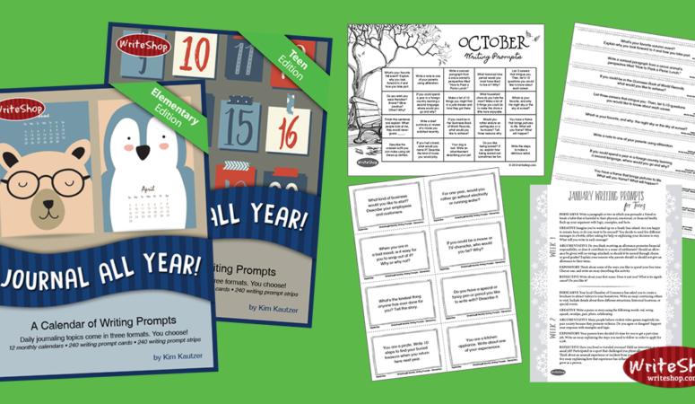 Free Journal All Year! Writing Prompt Calendar Bundle