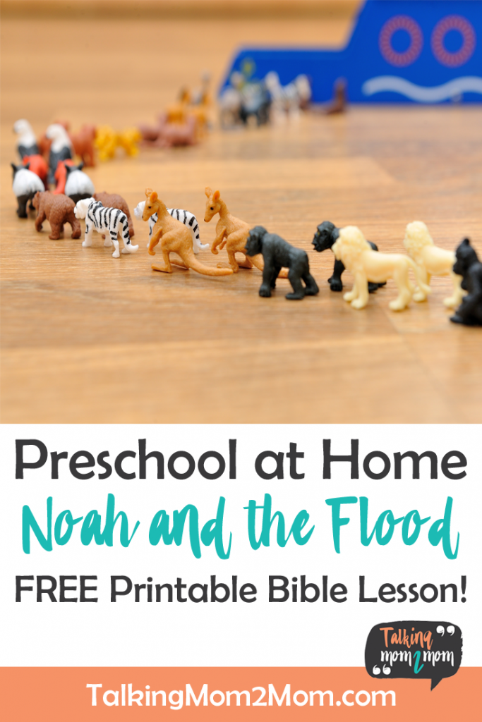 This Free Noah & the Flood Printable Bible Lesson is a great way to help ensure the truths of Genesis and the Flood are taught in a way they can understand! :: www.thriftyhomeschoolers.com