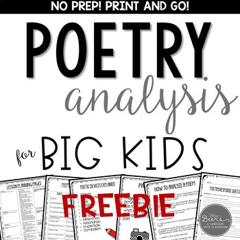 Free Poetry Analysis for Grades 4-8