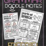 Free Grammar Doodle Notes