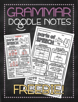 These Doodle Notes are a great way to introduce or review basic terms and skills in grammar as bell-ringers. This should take no more than 5 minutes, unless you allow time for coloring the pages. :: www.thriftyhomeschoolers.com