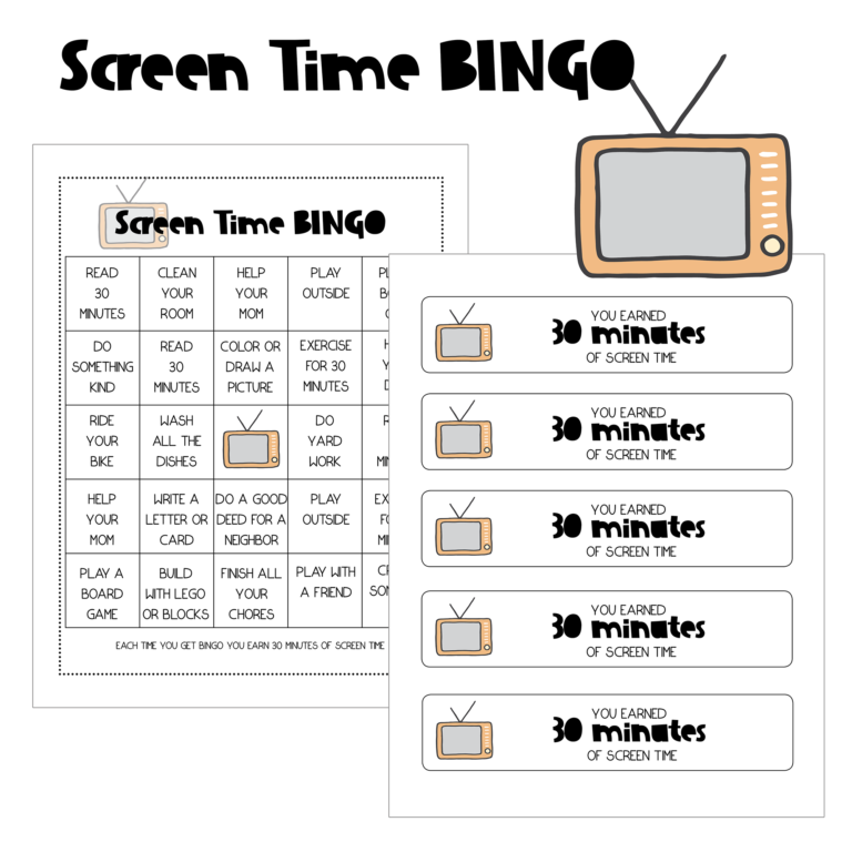 Looking for a better way to manage your children's screen time? Check out this Printable Screen Time Bingo freebie! Encourage children to do more before they resort to their screens! :: www.thriftyhomeschoolers.com
