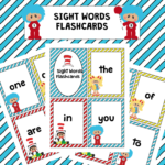 Free Dr. Seuss Inspired Sight Word Flashcards