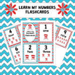 Free Seuss Inspired Number Flashcards
