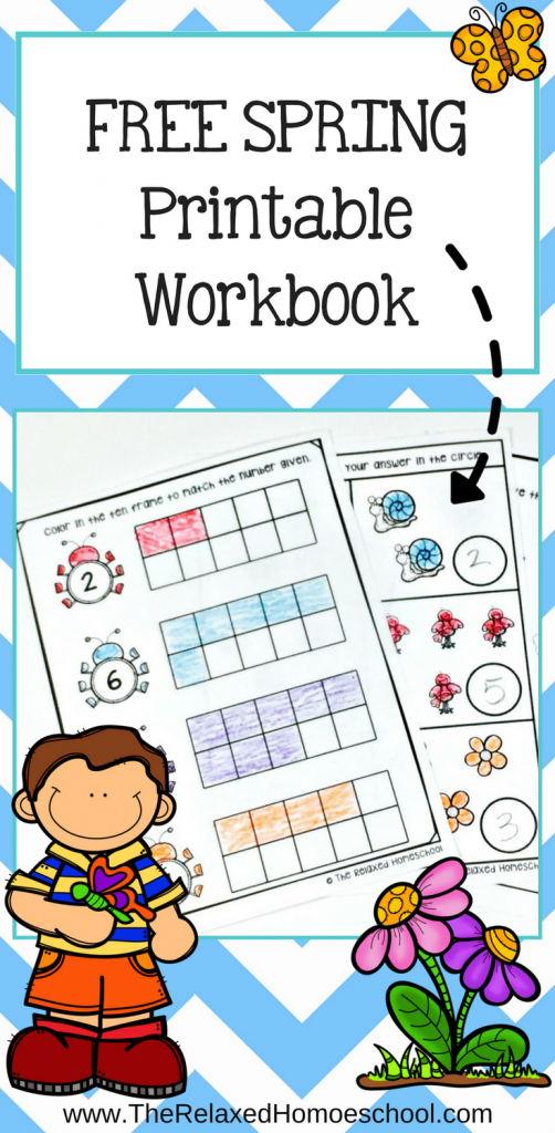 Spring brings with it some rain showers! Check out this FREE Spring Printable Workbook to work on some math skills while they're stuck inside! :: www.thriftyhomeschoolers.com