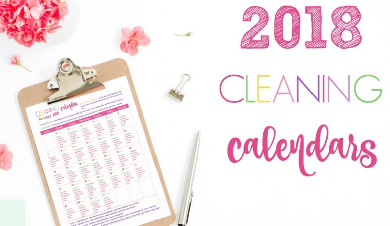 Free March 2018 Cleaning Calendar