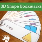 Free Printable 3D Shapes Bookmarks