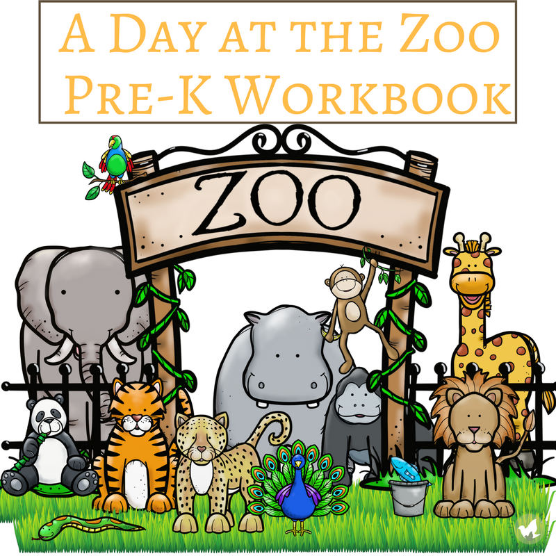 Taking a trip to the zoo soon? Does your preschooler love animals? This workbook for little ones includes 25 pages of fun and is geared toward children just beginning their learning! :: www.thriftyhomeschoolers.com
