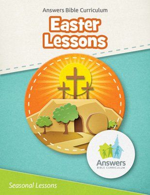 I love these FREE Easter Lessons from the popular Answers Bible Curriculum by Answers in Genesis! These free lesson downloads include everything you need such as Teacher guide, posters, games, crafts, take-home sheets and more! :: www.thriftyhomeschoolers.com