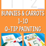 Free Bunnies & Carrots Q-tip Counting Printables
