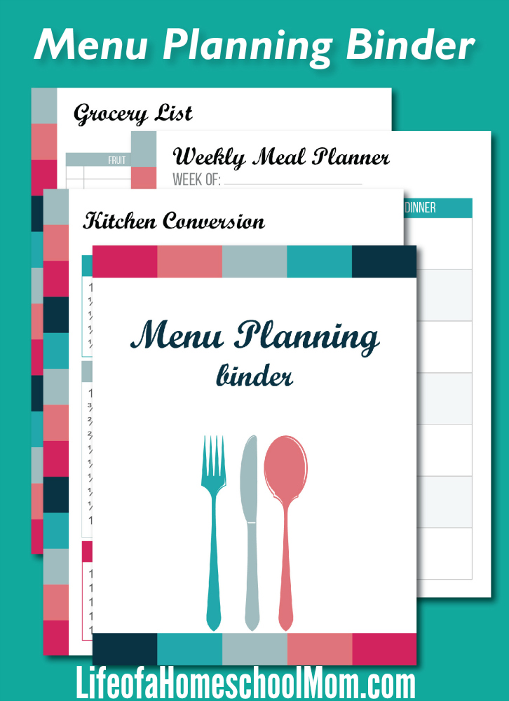 What mom isn't busy?! Menu planning is one of the best ways we have found to save time and money in our budget. Not sure where to start? Check out the Busy Mom's Menu Planning Binder! :: www.thriftyhomeschoolers.com