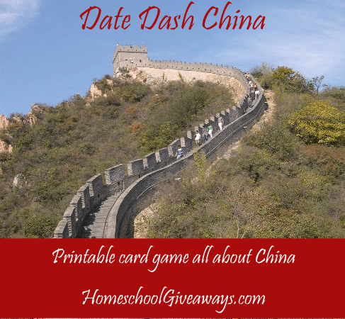 Free Printable Date Dash China Game
