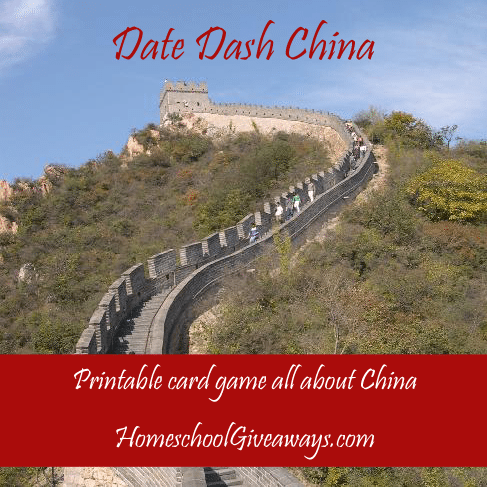 Test your knowledge of Chinese history with this fun and FREE printable Date Dash China game. The game includes two levels, which are perfect for middle and high schoolers. :: www.thriftyhomeschoolers.com