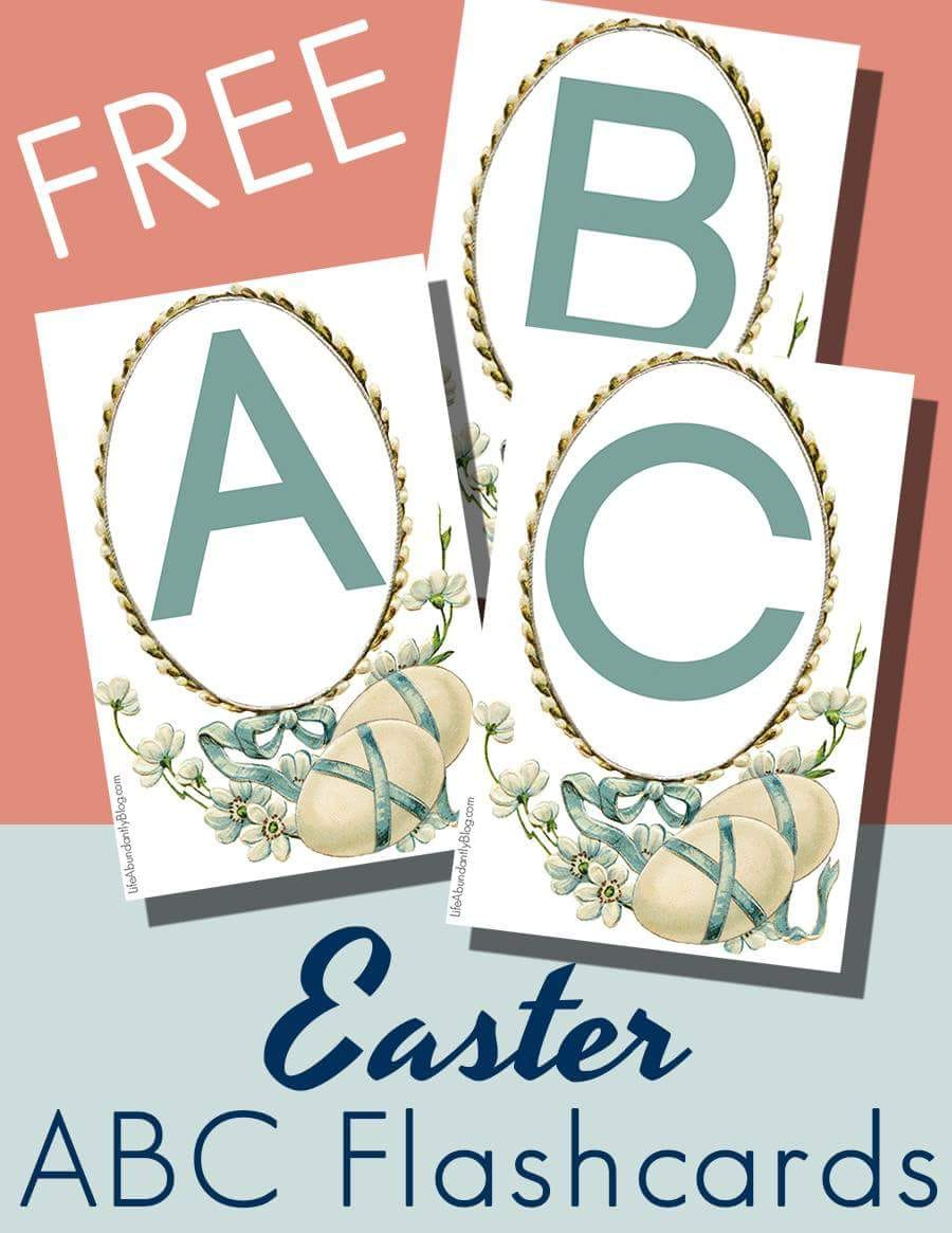 photograph relating to Abc Flash Cards Printable known as Free of charge Easter ABC Flashcards - Thrifty Homeschoolers