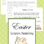 FREE Easter Scripture Manuscript Handwriting Pack