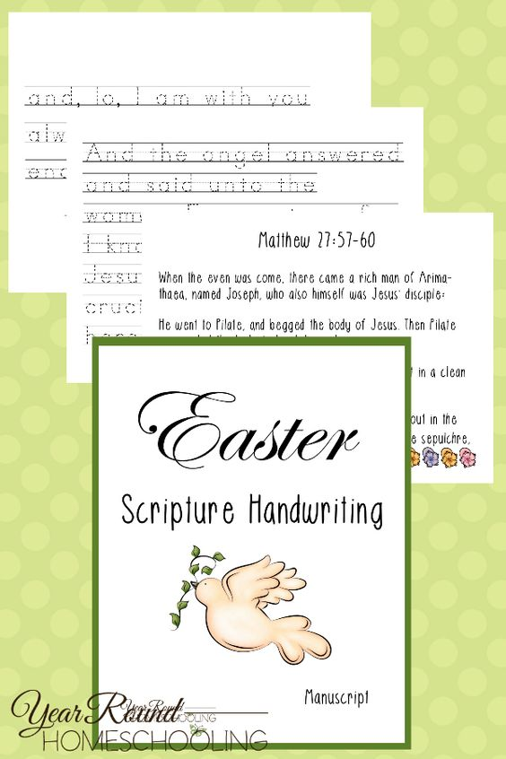 By having children write out Scriptures pertaining to the death, burial and Resurrection of Jesus Christ, they will remember the focus of Easter isn't the candy and fun, but the life giving sacrifice made over 2000 years ago on a cross! :: www.thriftyhomeschoolers.com