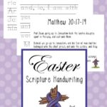Free Easter Scripture Handwriting Pack (PreK-K)