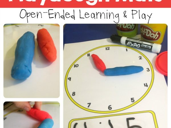 Free Telling Time Playdough Mats