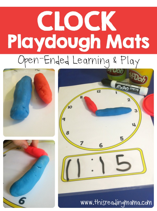 Do you have playdough fans in your house too? These FREE printable Telling Time Playdough Mats are great for little hands and minds! Perfect for a hands-on math lesson! :: www.thriftyhomeschoolers.com