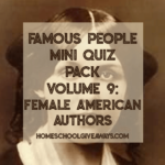 Free Female American Authors Printable Quiz Pack