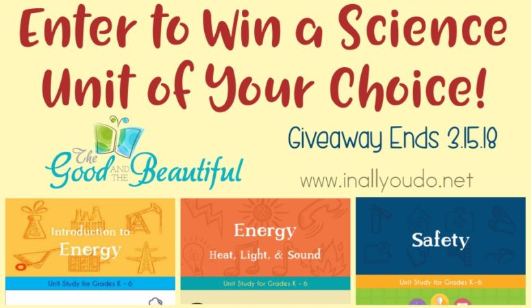 Giveaway ~ Winners Choice of Science Unit (Ends 3.15.18)