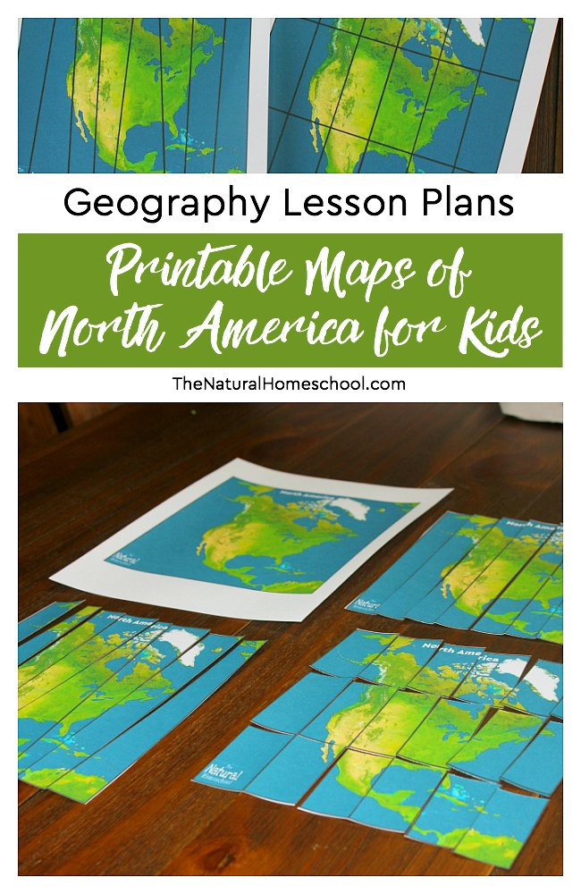Here are some of the best Geography Lesson Plans, which include puzzles of printable maps of North America for kids. Kids of all ages will enjoy these. :: www.thriftyhomeschoolers.com