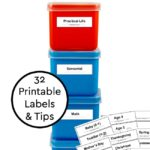 Organize Montessori Materials at Home + Printable Montessori Labels