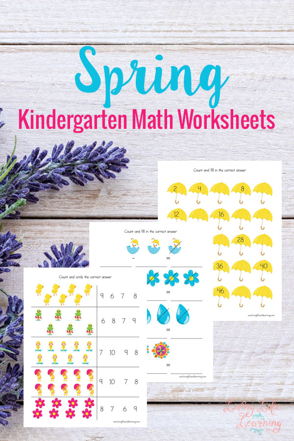Want to cure spring fever? Make their lessons fun and inviting like these Spring Kindergarten Math Worksheets!These are a fun way for little ones to work on their math problems - whether inside or outside - with a fun Spring twist! :: www.thriftyhomeschoolers.com