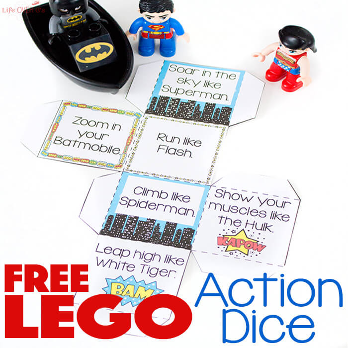 If you have a LEGO fan that also loves Super Hero's, they are sure to love this fun action game. Simply print and assemble the dice for those cold or rainy days! :: www.thriftyhomeschoolers.com