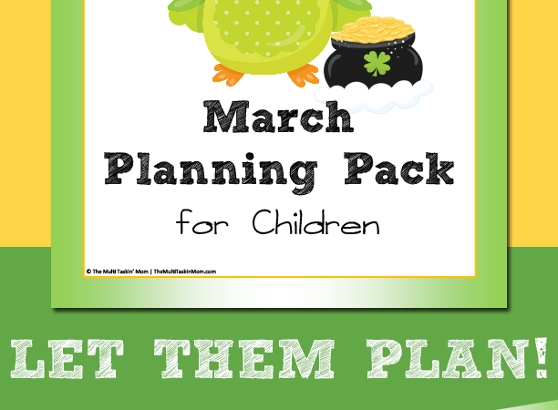 Limited Time Freebie ~ March Planning Pack for Children (Ends 3.11.18)