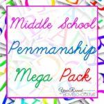 Middle School Penmanship Pack Freebie