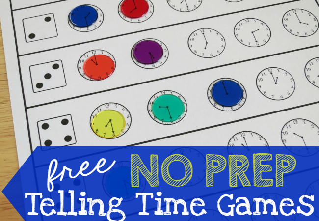FREE No Prep Time Telling Printables