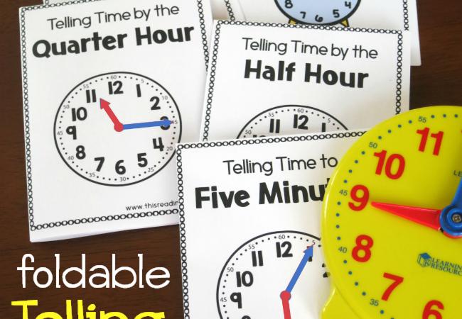 Free Telling Time Foldable Books
