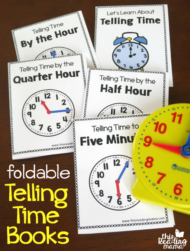 Learning to tell time can be tough for some kids. Use these Free Telling Time Foldable Books, are a fun way to help kids learn and practice telling time. :: www.thriftyhomeschoolers.com