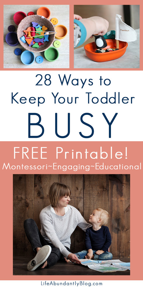 "Keeping toddlers busy isn't easy. Here is a great FREE Printable ""menu"" of opportunities for keeping your toddler busy, but in a productive, low-stress, gentle way. :: www.thriftyhomeschoolers.com"