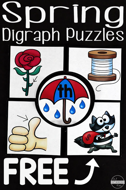 Is your early reader working on digraphs? They can be tricky, but making them fun can help! Check out these fun Spring themed Digraph Puzzles to give them some fun hands-on learning! :: www.thriftyhomeschoolers.com